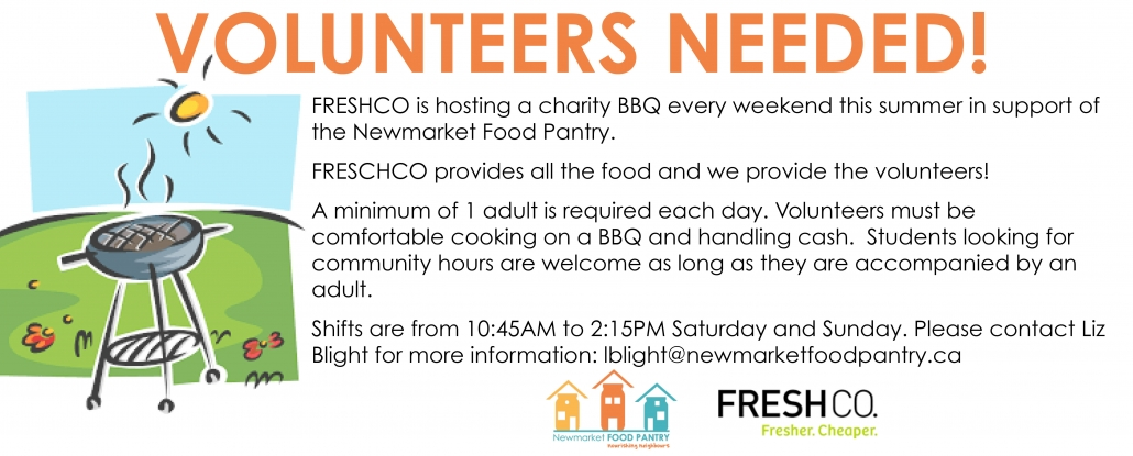 Freshco Summer BBQ - Newmarket Food Pantry